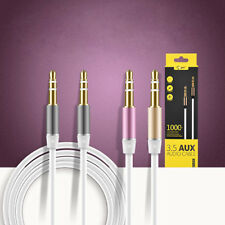1M 3.5mm Male to Male Cord Aux Audio Stereo Cable Metal Plug For iPod Phone Car
