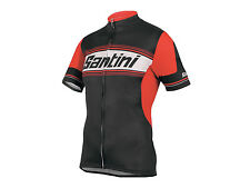 TAU Lightweight Cycling Jersey in Red. Made in Italy by Santini