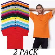 2-PACK-SG tshirts Tops-Mens Heavyweight T-Shirt-Crew Neck Short Sleeve tshirt