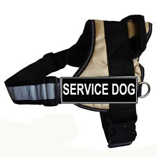 REFLECTIVE Service Dog Harness Dog Vest with Removable free 2 Velcro Patches
