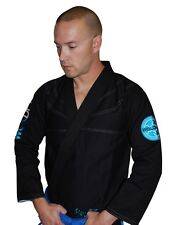 "Woldorf ""Black and Aqua Pearl"" BJJ Gi 450 gram light weight Brazilian Jiu Jitsu"