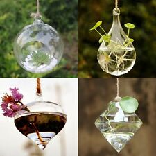 1PC Clear Hanging Vase Planter Terrarium Container Glass Home Wedding Decor