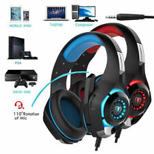 Beexcellent Gaming Headset Headphone Stereo Bass USB w/Mic LED for PS4 Xbox one