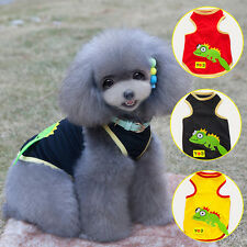 Puppy Summer Tops Dog Pet Polyester Mesh Vests Tee Cat Clothes Doggy TShirt