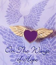 Purple Heart Pilot Wings of Hope Pin Awareness Many Cancer Cause New