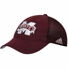 adidas Mississippi State Bulldogs Maroon Sideline Coach Slope climalite Flex Hat