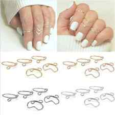 5PCS Lots  Fashion  Women Gold Silver Above Knuckle Finger Ring Band Midi Rings