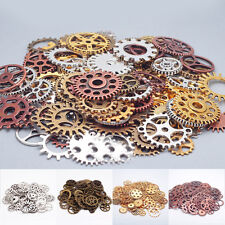 100g/Bag Lot Retro Steampunk Wrist Watch Old Parts Gears Wheels Steam Punk DIY