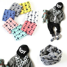 1Pc Baby Winter Warm Girls Boys Stars Collar Scarf Children O Ring Neck Scarves
