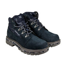 CAT Junction Mens Blue Nubuck Casual Dress Lace Up Boots Shoes