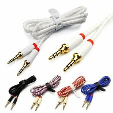 3.5mm Braided Male to Male Car Aux Cord Stereo Audio Cable For MP3 Car iPod Lot