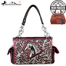 NEW Montana West Western Collection DESIGNER Handbag Purse Silver Horse Cowgirl