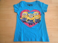 New Girls Despicable Me 2 MINIONS Turquoise T Shirt size XS S