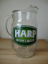 Vintage Harp Irish Lager 4 Pint Heavy Glass Pitcher Jug - Crown Mark Pub Quality