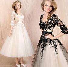 Womens Dress  Formal Skirt Cocktail Evening Lace Prom Ball Party Wedding Bridal