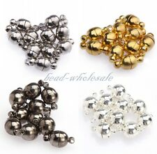 10 Sets Round Ball Magnetic Clasps Silver /Gold Plated 6mm/8mm New