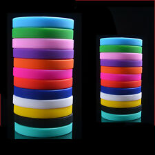 Colors Sport Silicone Rubber Bracelet Rubber Wristband Men And Women CHI