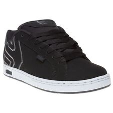 New Mens Etnies Black Fader Nubuck Trainers Skate Lace Up