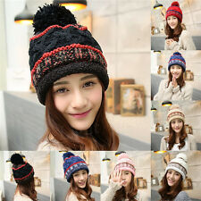 Women Girls Warm Winter Ski Beanie Knit Crochet Baggy Hat Cap Hot Fashion HOT  X