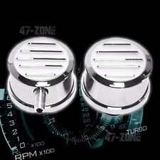 BILLET ALUMINUM ROUND PUSH IN BREATHER PCV SET BALL MILLED - POLISHED