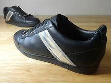 Christian Dior size 7.5 mens black designer trainers Dior Homme silver detail.