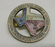 Houston Livestock Show Rodeo Badge Pin Committeenen's Club 1986 HLSR