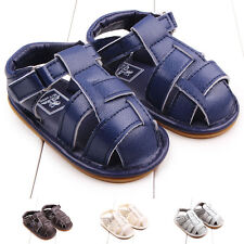 Toddler Baby Boys Patent Leather Sandals Non-slip First Walking Shoes Summer New