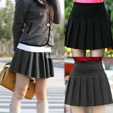 New Women High Waist Pleated Mini Skirt Skater Short Flared Skirt Tennis Skirt