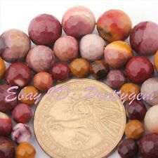 """6-10mm Faceted Round Multicolor Mookaite Jasper Gemstone Spacer Loose Beads 15"""""""