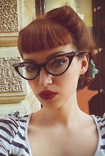Cat Eye Eyeglasses Clear Lens Women Retro Vintage Fashion Style