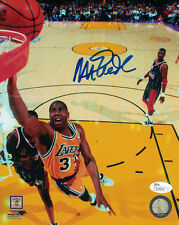 MAGIC JOHNSON AUTOGRAPHED/SIGNED LOS ANGELES LAKERS 11844 8X10 PHOTO DUNKING JSA