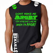 Stryker Fight Gear Hulk MMA UFC Tank Muscle T Shirt Top With FREE Tapout Sticker