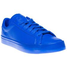 New Mens adidas Blue Court Vantage Leather Trainers Skate Lace Up
