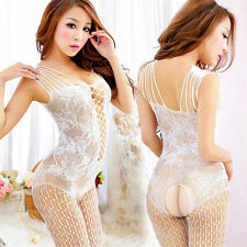Woman Sexy Net Lingerie Underwear Open Crotch Mesh Fishnet Bodystocking Stocking
