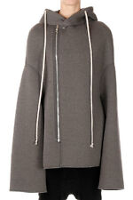 RICK OWENS LILIES MOODY Woman Dark Dust Hooded Jacket