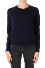 MARNI New woman Dark Blue Round Neck Virgin wool Sweater jumper Made Italy NWT