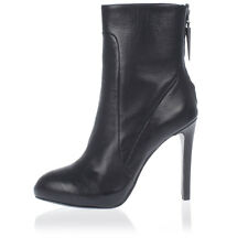 ASH New women Black Leather Heel Ankle Boots with Zip Mod. BLINK Authentic