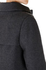 BRUNELLO CUCINELLI New women Gray Wool Cashmere Blend Coat Jacket Made in Italy