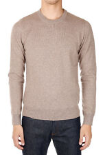MARTIN MARGIELA MM14 Man Beige Wool Sweater with Details in Leather