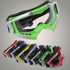 MX Motorcycle Motocross Dirt Bike ATV Off Road Helmet Goggles Eyewear Clear Lens