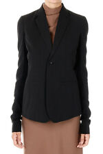RICK OWENS Woman Mixed Virgin Wool Single Breasted Blazer Made in Italy