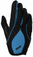 MTB CYCLING CYCLE BIKE BICYCLE BMX FULL FINGER GLOVES PADDED PALM BLUE