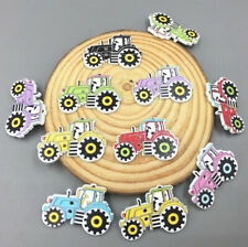 Cartoon car Wooden Sewing Buttons Mixed-color decoration scrapbooking 32mm