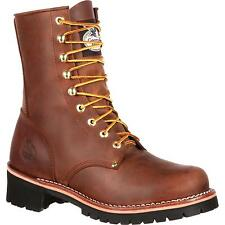 MEN'S GEORGIA BROWN SOFT TOE LOGGER WORK BOOTS GB00048