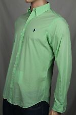 Ralph Lauren Green Cream Striped Classic Dress Shirt Purple Pony NWT