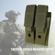 TACTICAL MILITARY TRAINING EXERCISE DOUBLE MAGAZINE POUCH PISTOL RIFLE NEW I5K9