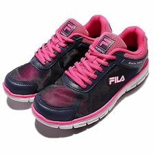 FILA J904Q Navy Pink Biella Italia Womens Running Shoes Sneakers 5-J904Q-321