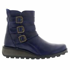Fly London Myso Rug Blue Womens Boots