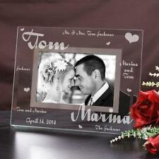 Personalized Mr and Mrs Wedding Picture Frame Engraved Wedding Photo Frame Gift