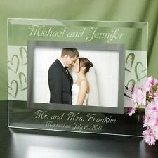 Personalized Wedding Picture Frame Engraved Mr & Mrs Wedding Gift Photo Frame